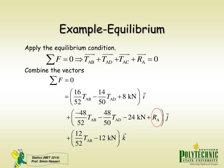 Example-Equilibrium