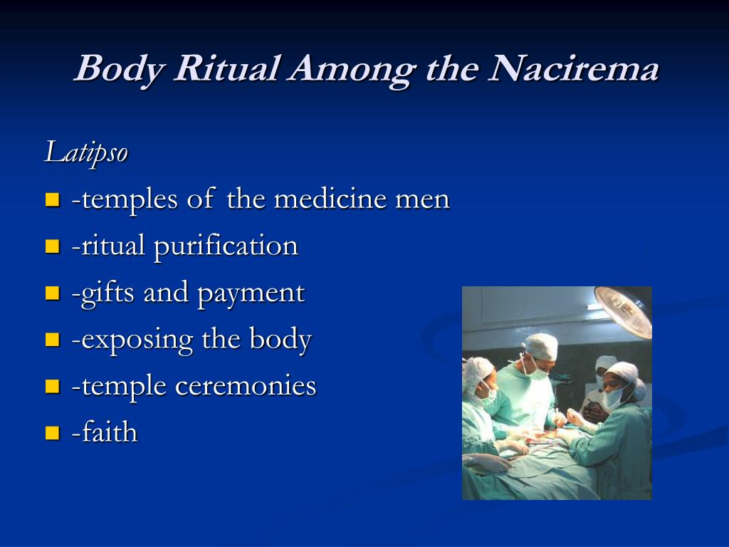 the body ritual among the nacirema essay actually explored american rituals Essay against euthanasia 8 membered ring synthesis essay csr magazine essay writing the body ritual among the nacirema essay actually explored american rituals.