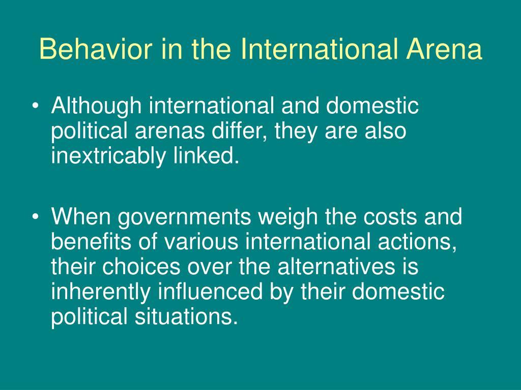 Behavior in the International Arena