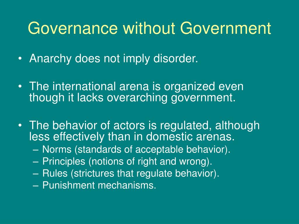 Governance without Government