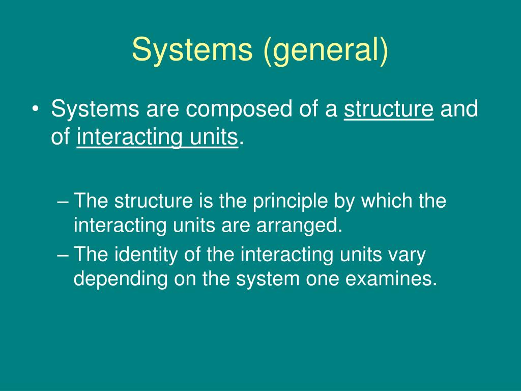 Systems (general)