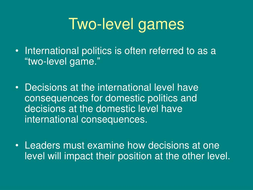 Two-level games