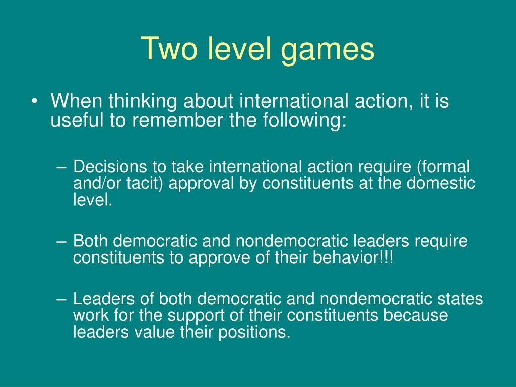 Two level games