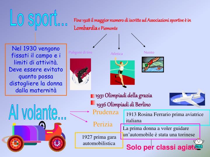 Lo sport...