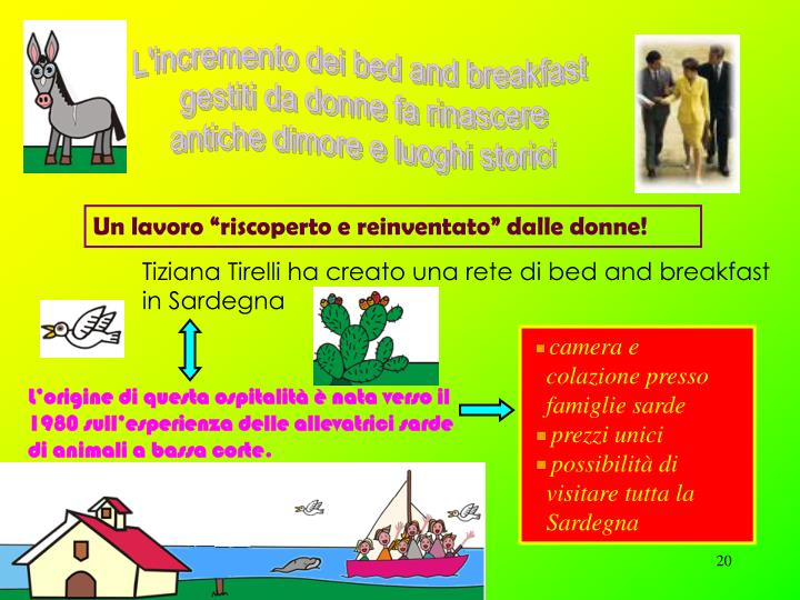 L'incremento dei bed and breakfast