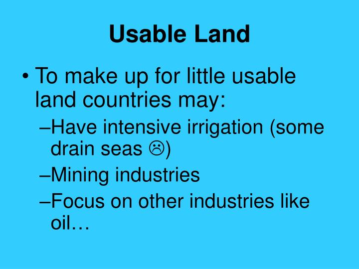 Usable Land