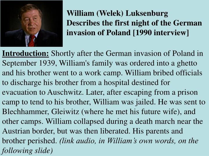 William (Welek) Luksenburg