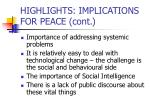 highlights implications for peace cont22