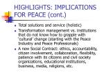 highlights implications for peace cont24