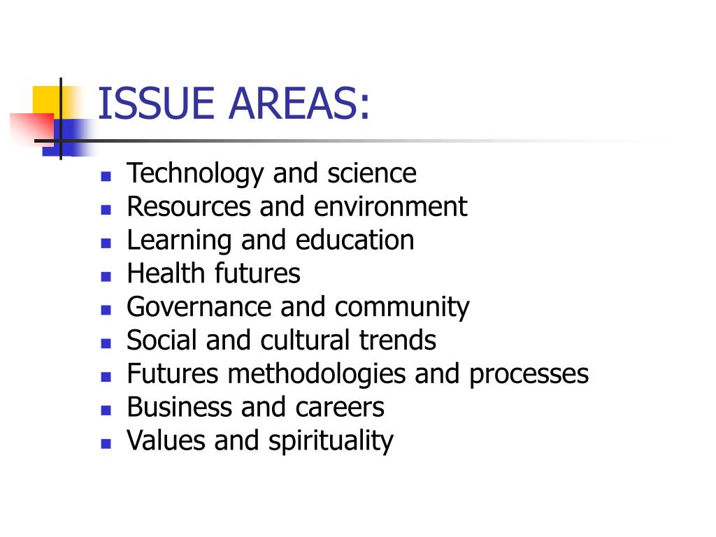 ISSUE AREAS: