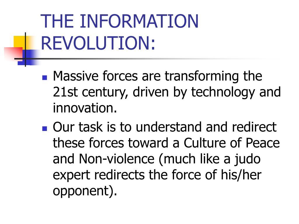 THE INFORMATION REVOLUTION: