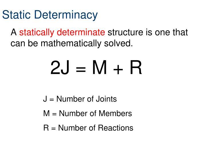 Static Determinacy