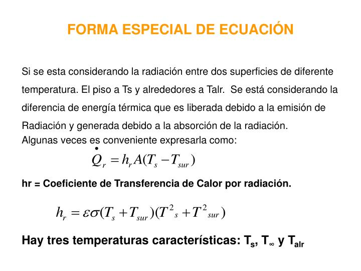 FORMA ESPECIAL DE ECUACIÓN