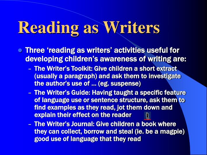 Reading as Writers