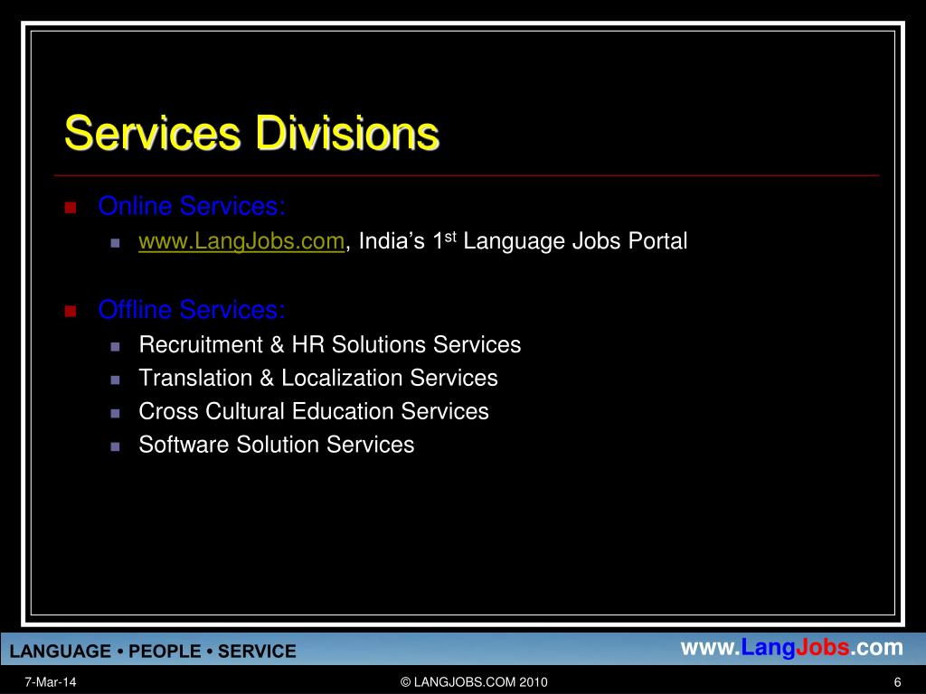 Services Divisions