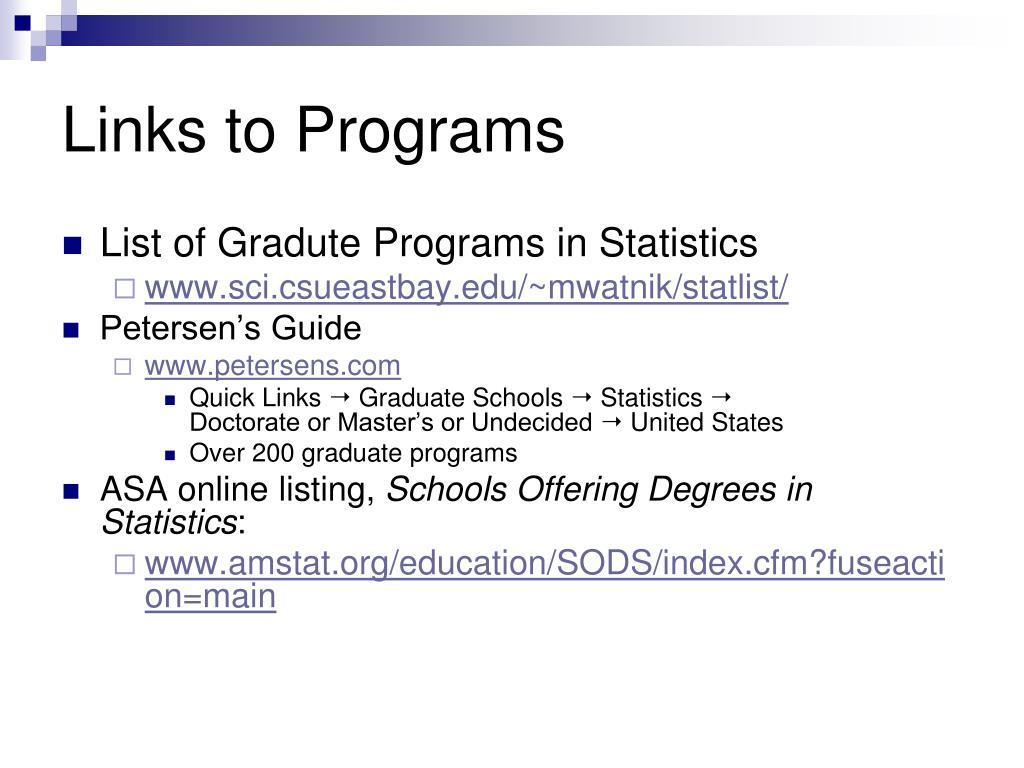 Links to Programs