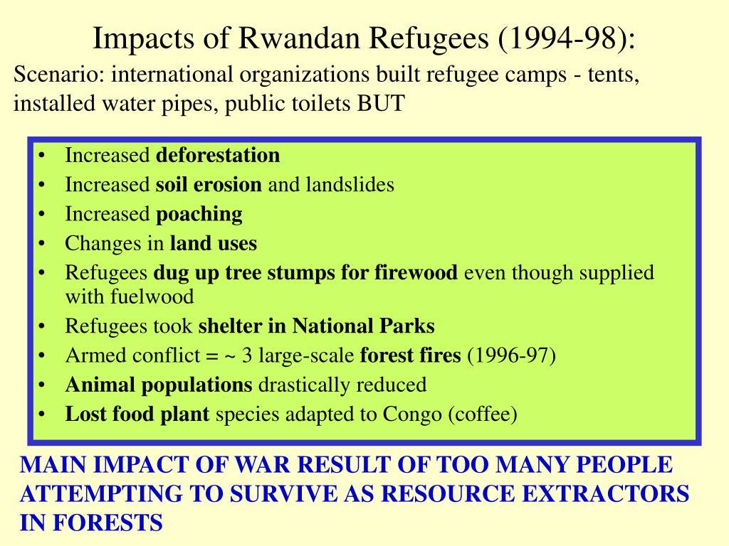 Impacts of Rwandan Refugees (1994-98):