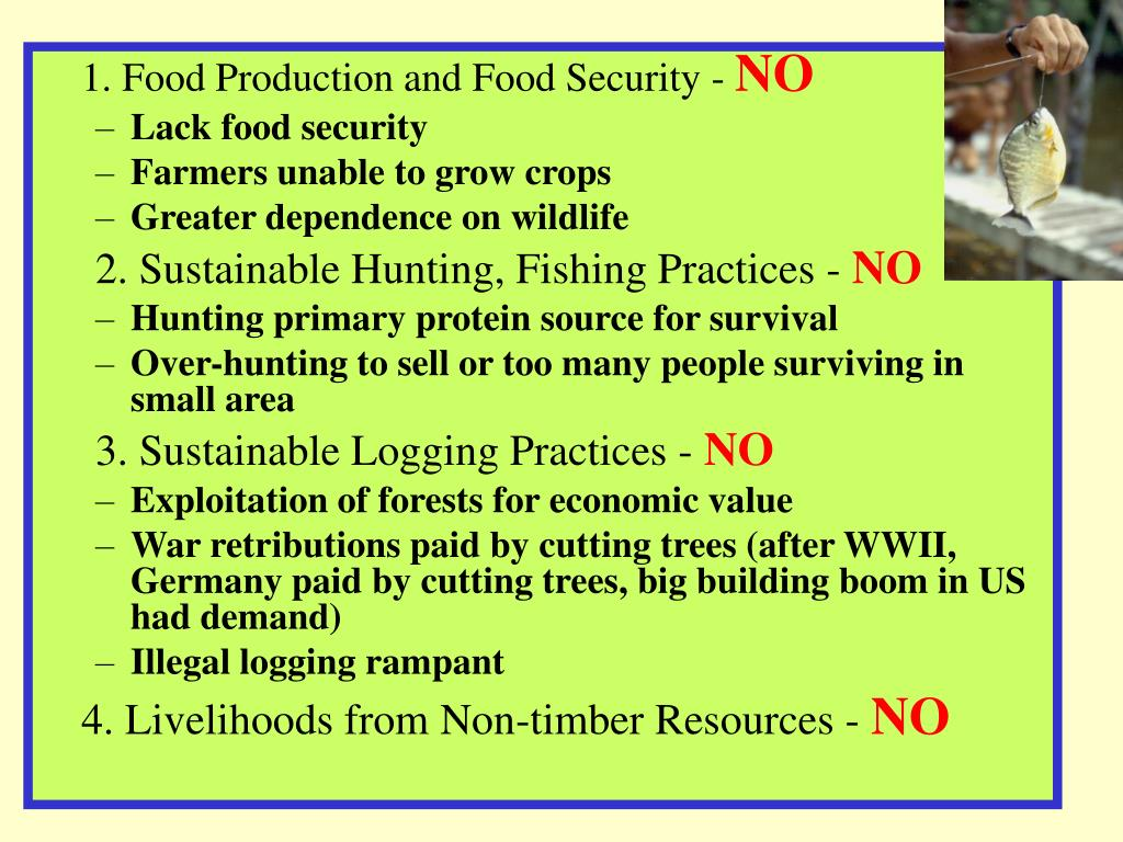 1. Food Production and Food Security -