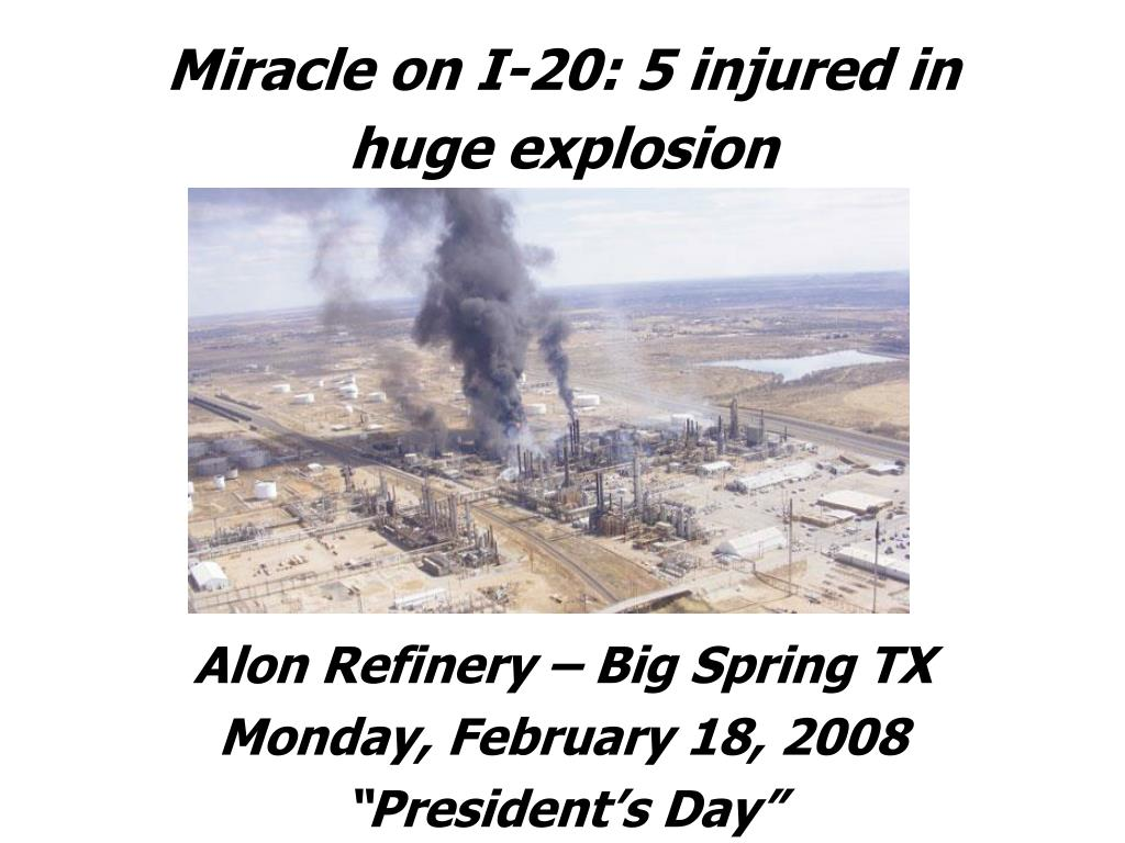 Miracle on I-20: 5 injured in huge explosion