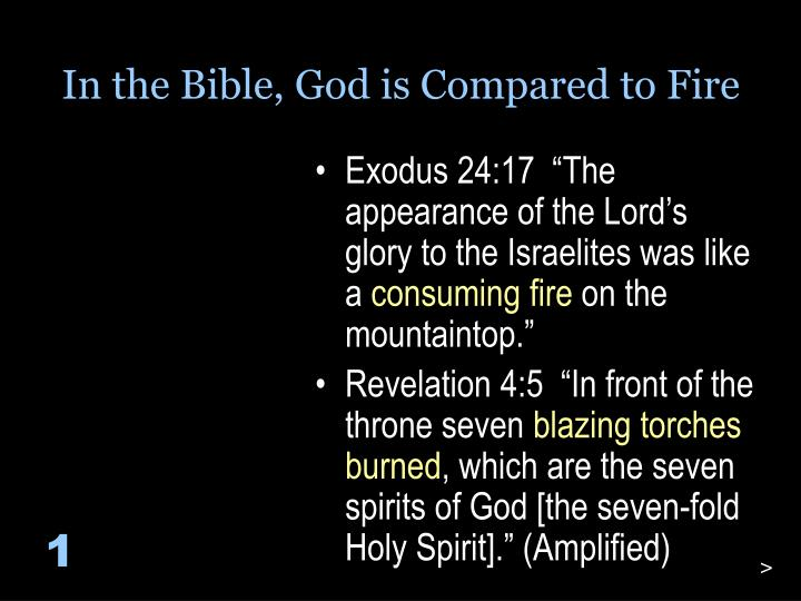 In the Bible, God is Compared to Fire
