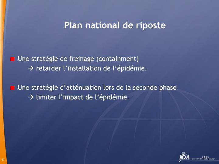 Plan national de riposte