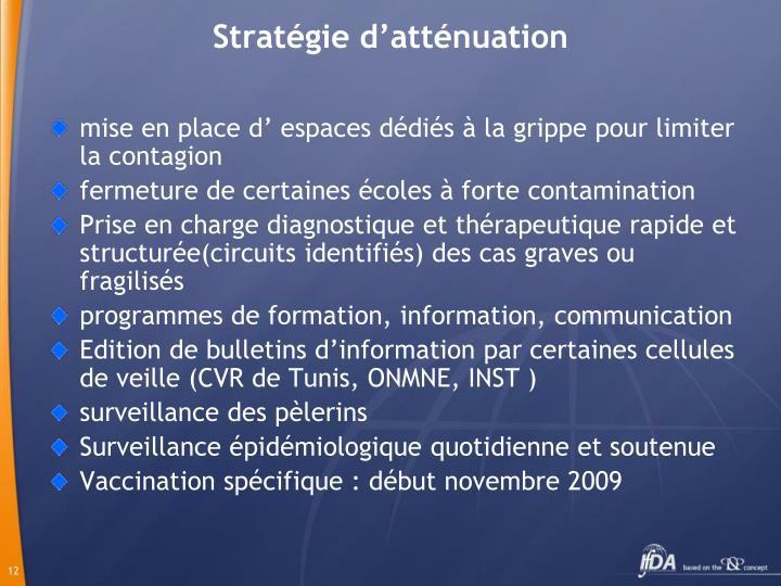 Stratégie d'atténuation