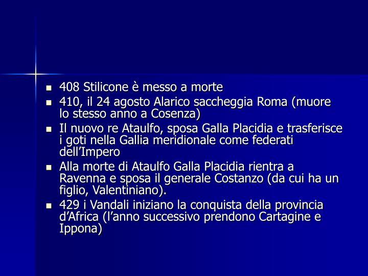 408 Stilicone è messo a morte