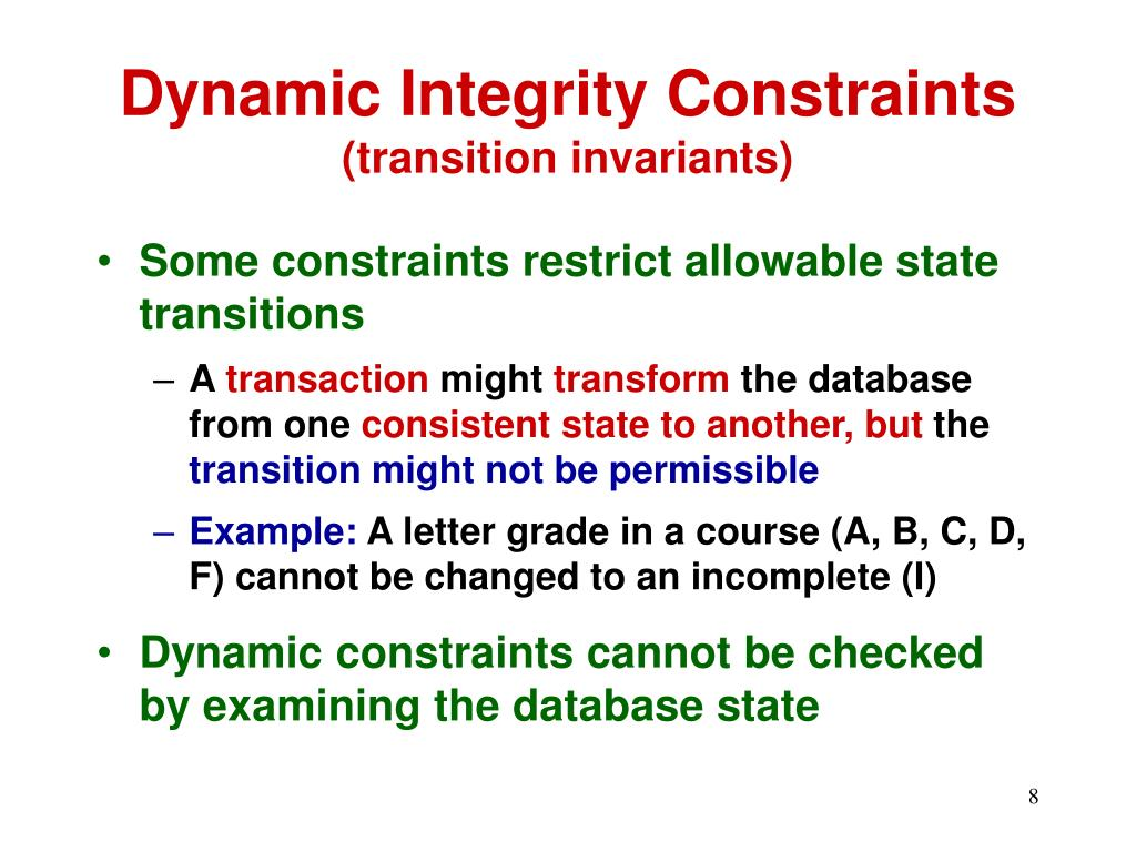 Dynamic Integrity Constraints