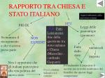 rapporto tra chiesa e stato italiano