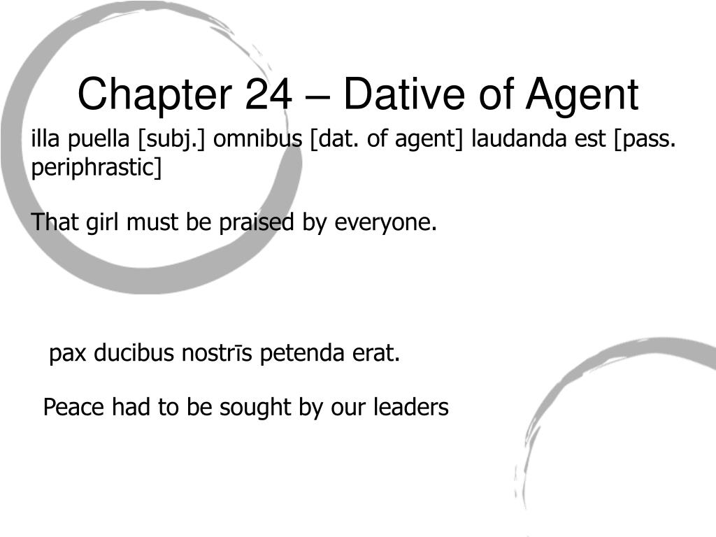 Chapter 24 – Dative of Agent