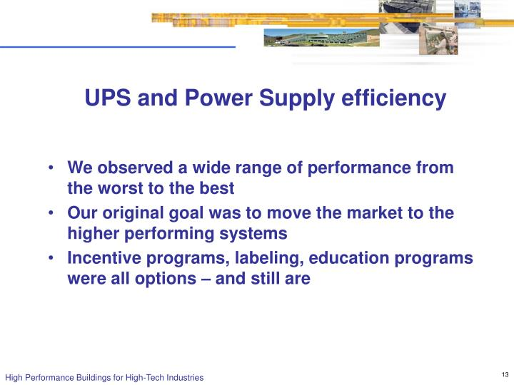 UPS and Power Supply efficiency