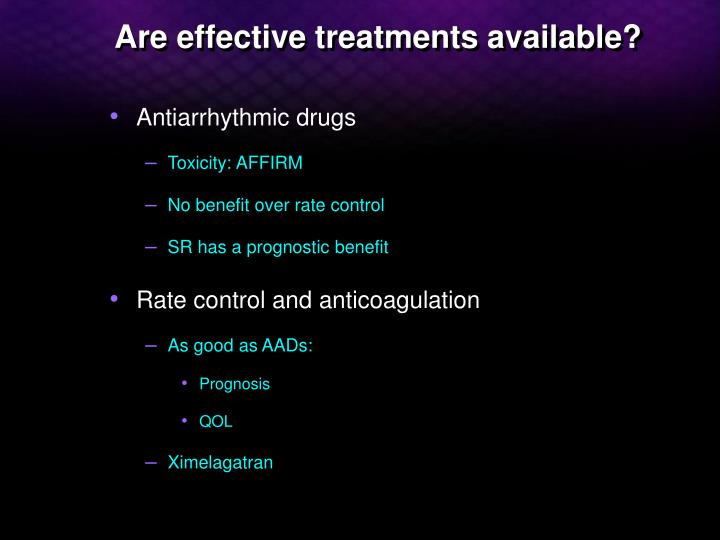 Are effective treatments available
