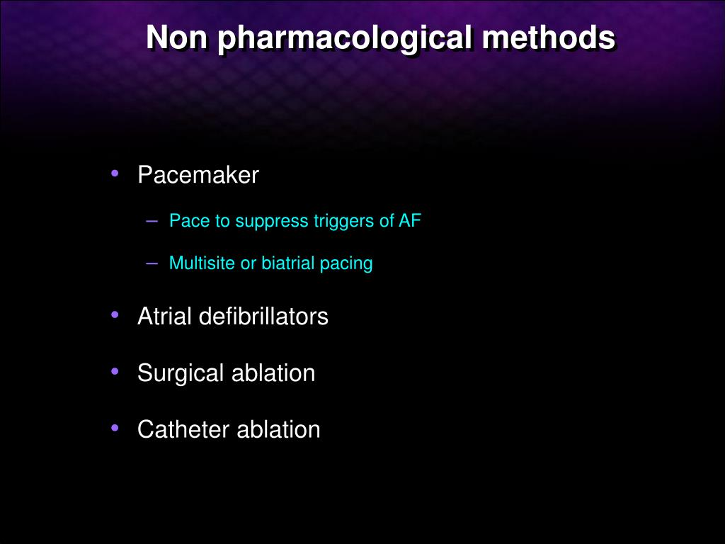 Non pharmacological methods