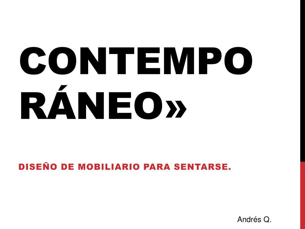 Contemporáneo»