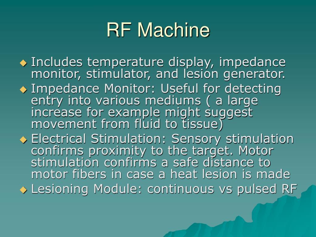 RF Machine