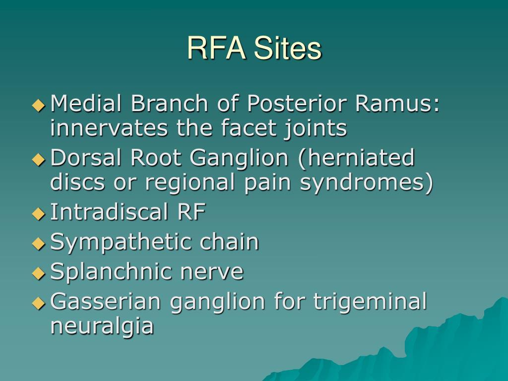 RFA Sites