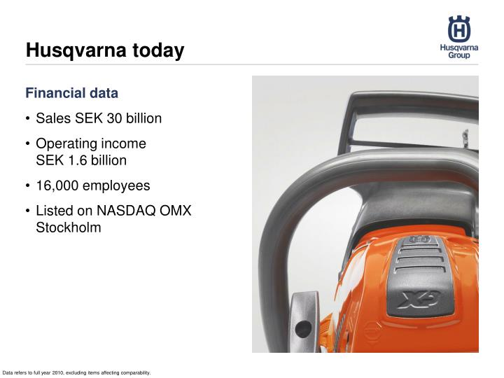 Husqvarna today
