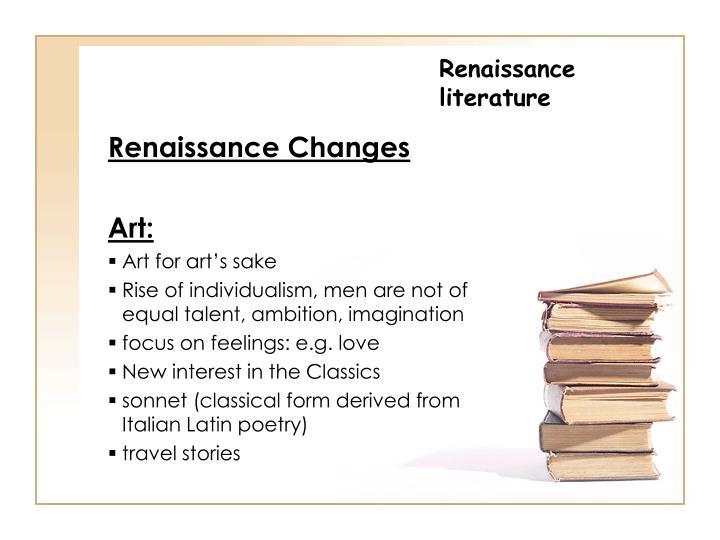 Renaissance literature