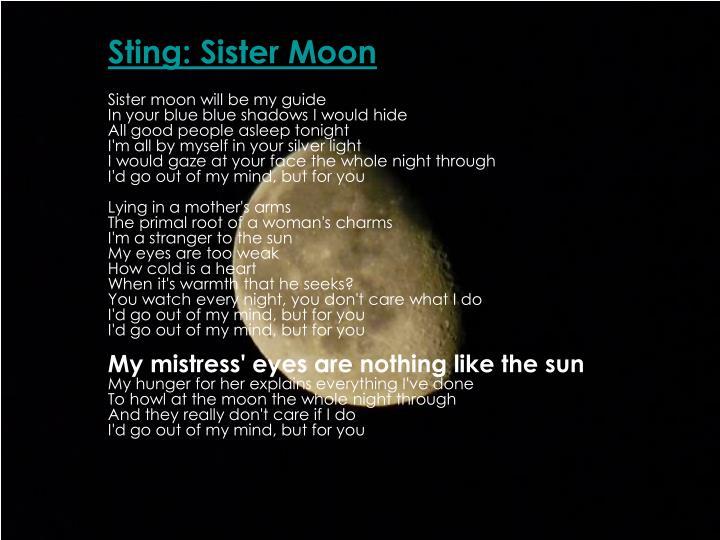 Sting: Sister Moon