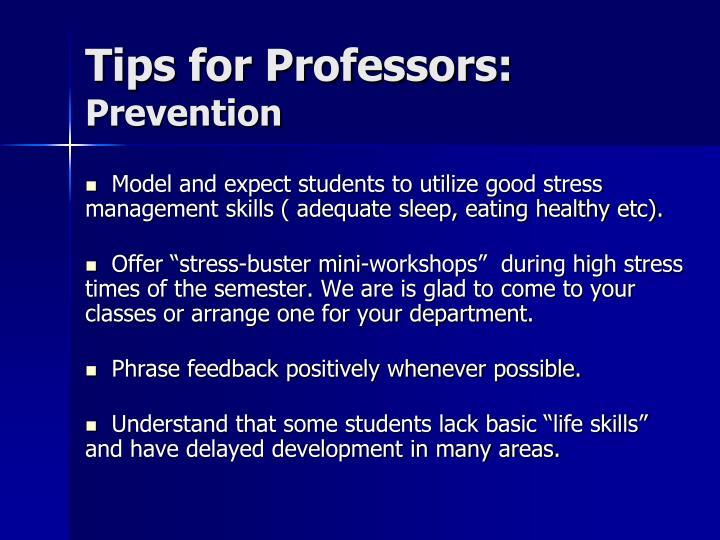 Tips for Professors: