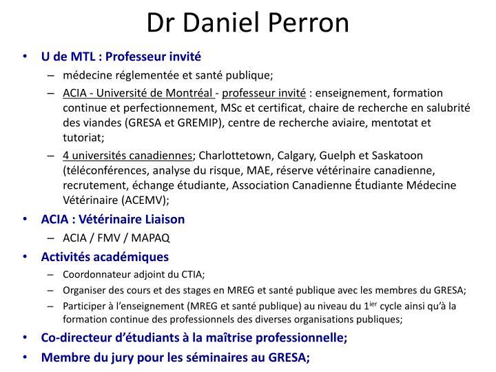 Dr Daniel Perron