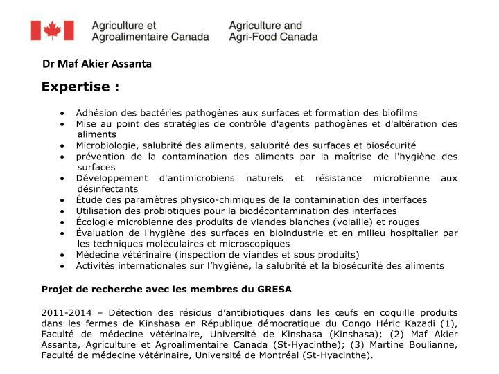 Dr Maf Akier Assanta