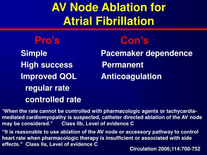 AV Node Ablation for