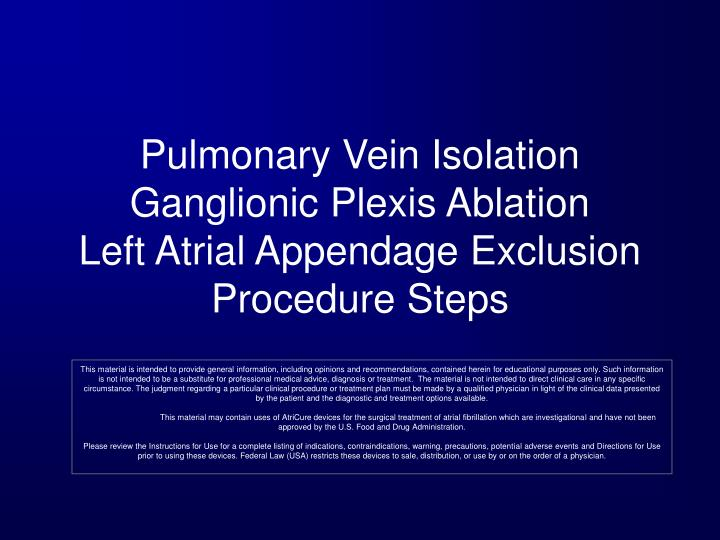 Pulmonary Vein Isolation