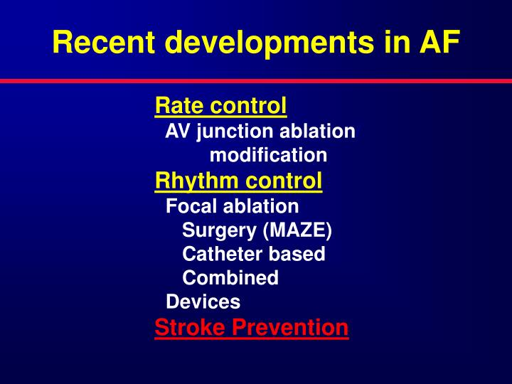 Recent developments in AF