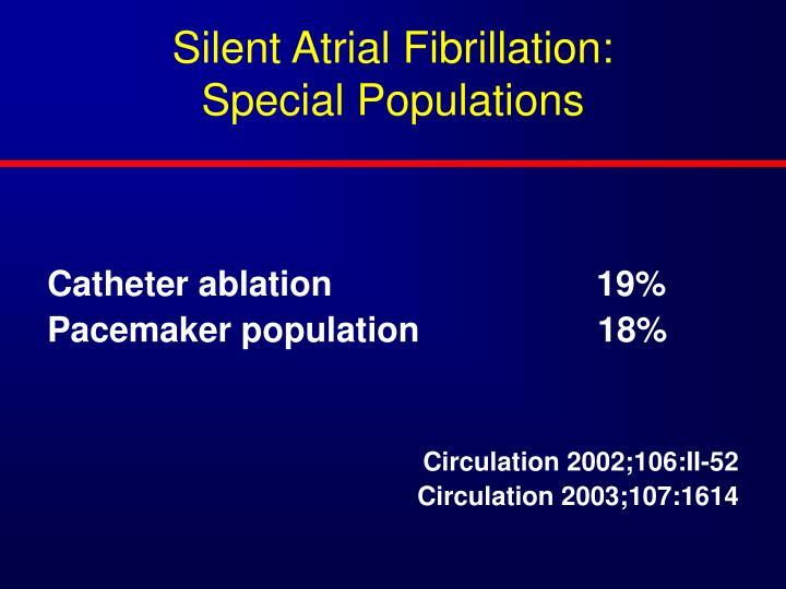 Silent Atrial Fibrillation: