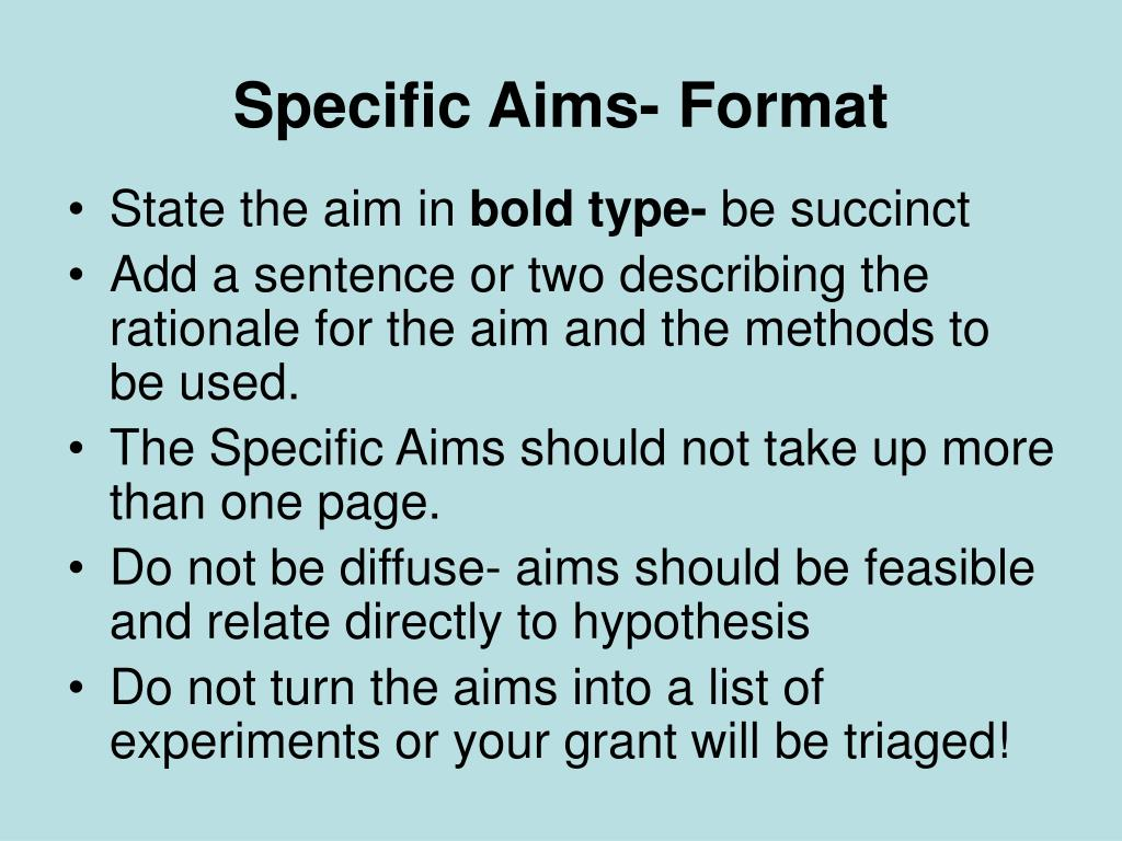 optogenetics specific aims essay Lesson plan: defining aims well written objectives are much more specific and should clarify the aims if you are the original writer of this essay and no.