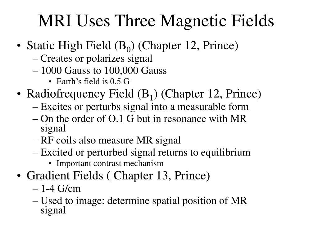 MRI Uses Three Magnetic Fields