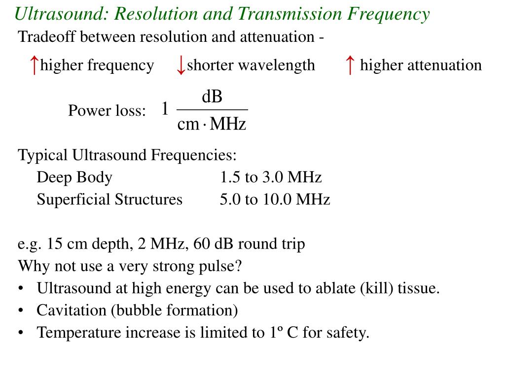 Ultrasound: Resolution and Transmission Frequency