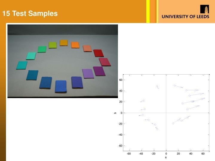 15 Test Samples